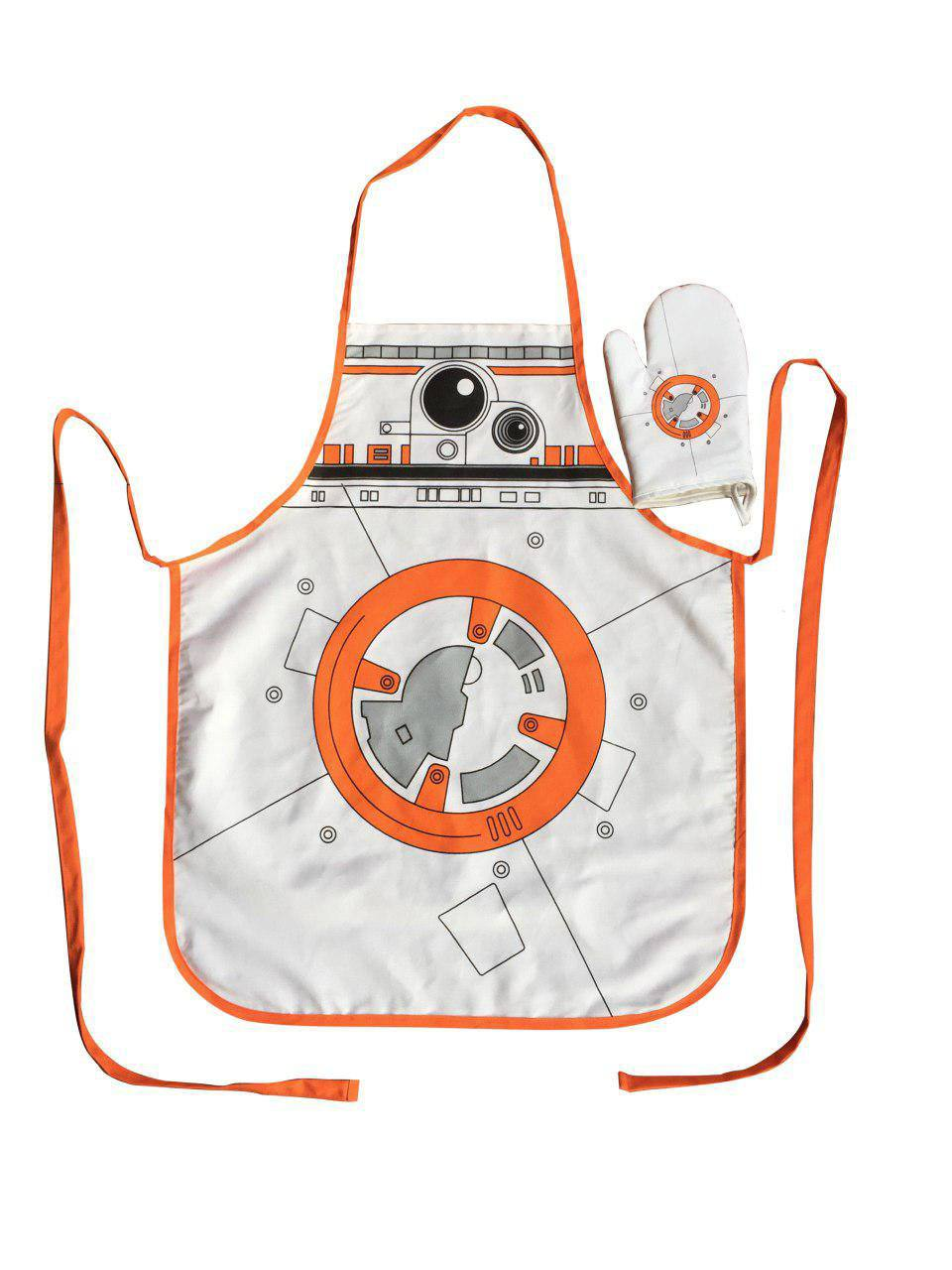 Star Wars cooking apron with oven mitt BB-8