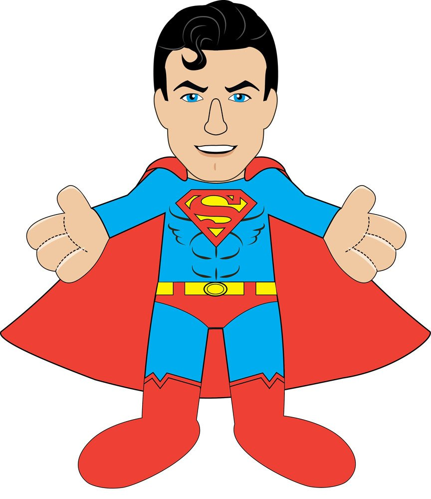 DC Comics Plush Figure Series 2 Superman Classic 25 cm