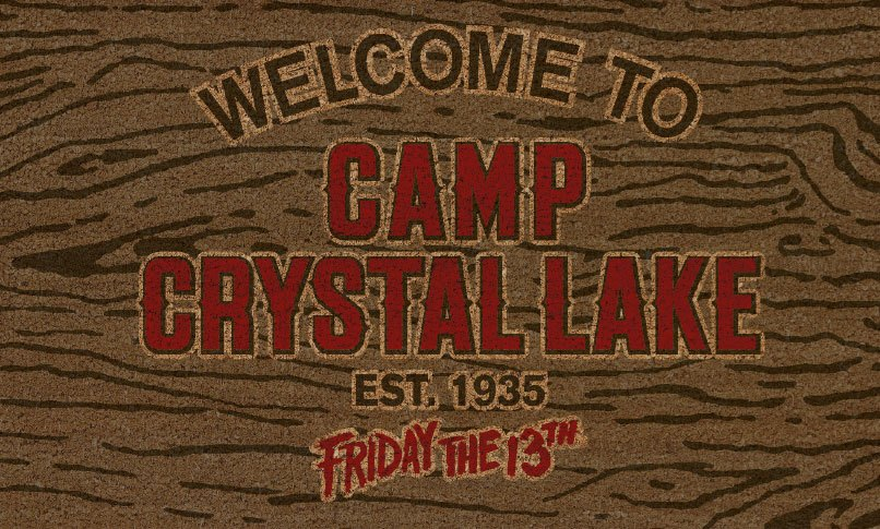 Friday the 13th Doormat Welcome To Camp Crystal Lake 43 x 73 cm