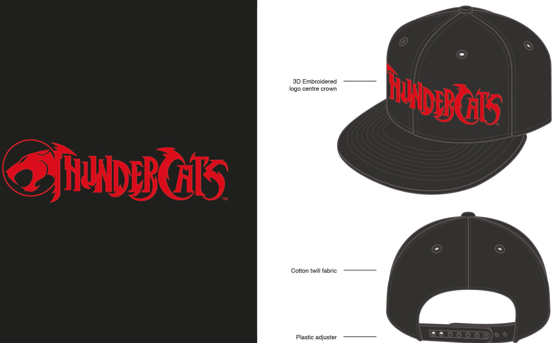 Thundercats Snap Back Cap Logo