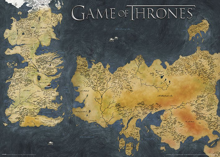 Game of Thrones Metallic Poster Pack Westeros & Essos 50 x 70 cm (5)