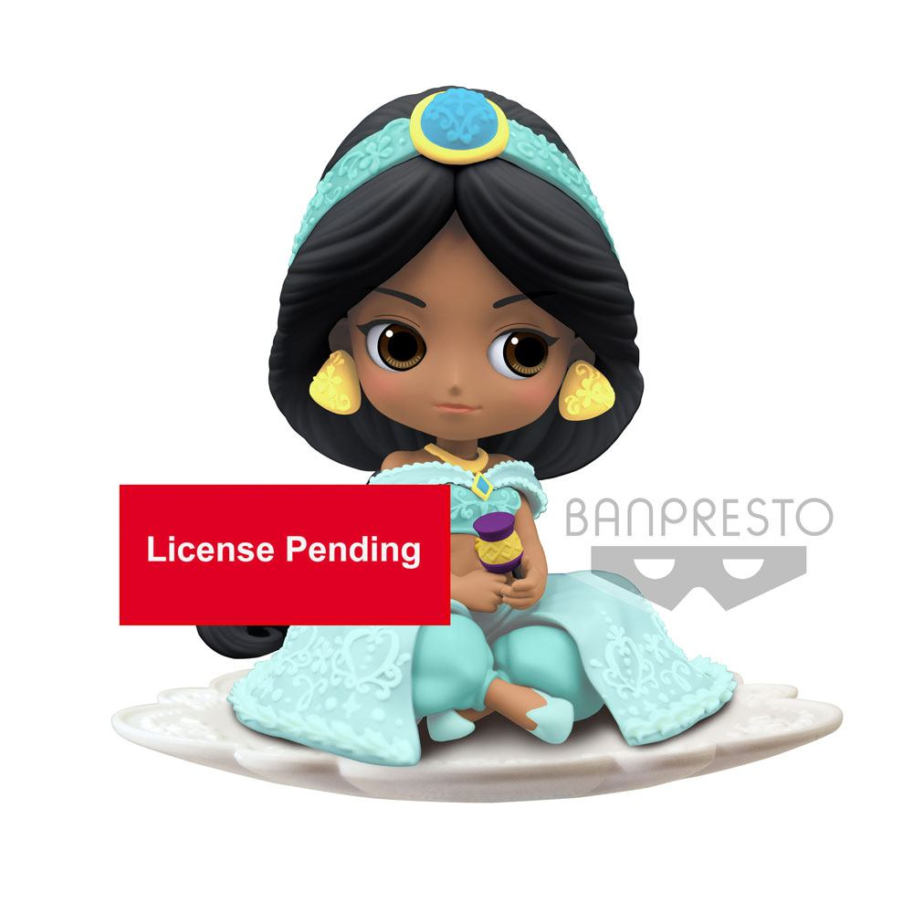 Disney Q Posket Mini Figure Jasmine B Milky Color Version 9 cm