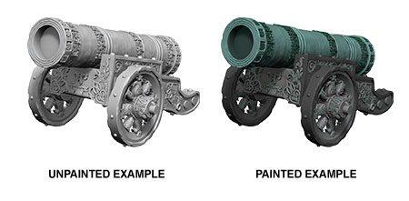 WizKids Deep Cuts Unpainted Miniature Large Cannon Case (6)