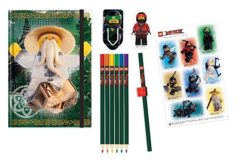 LEGO Ninjago Movie 6-Piece-Writing Set Characters