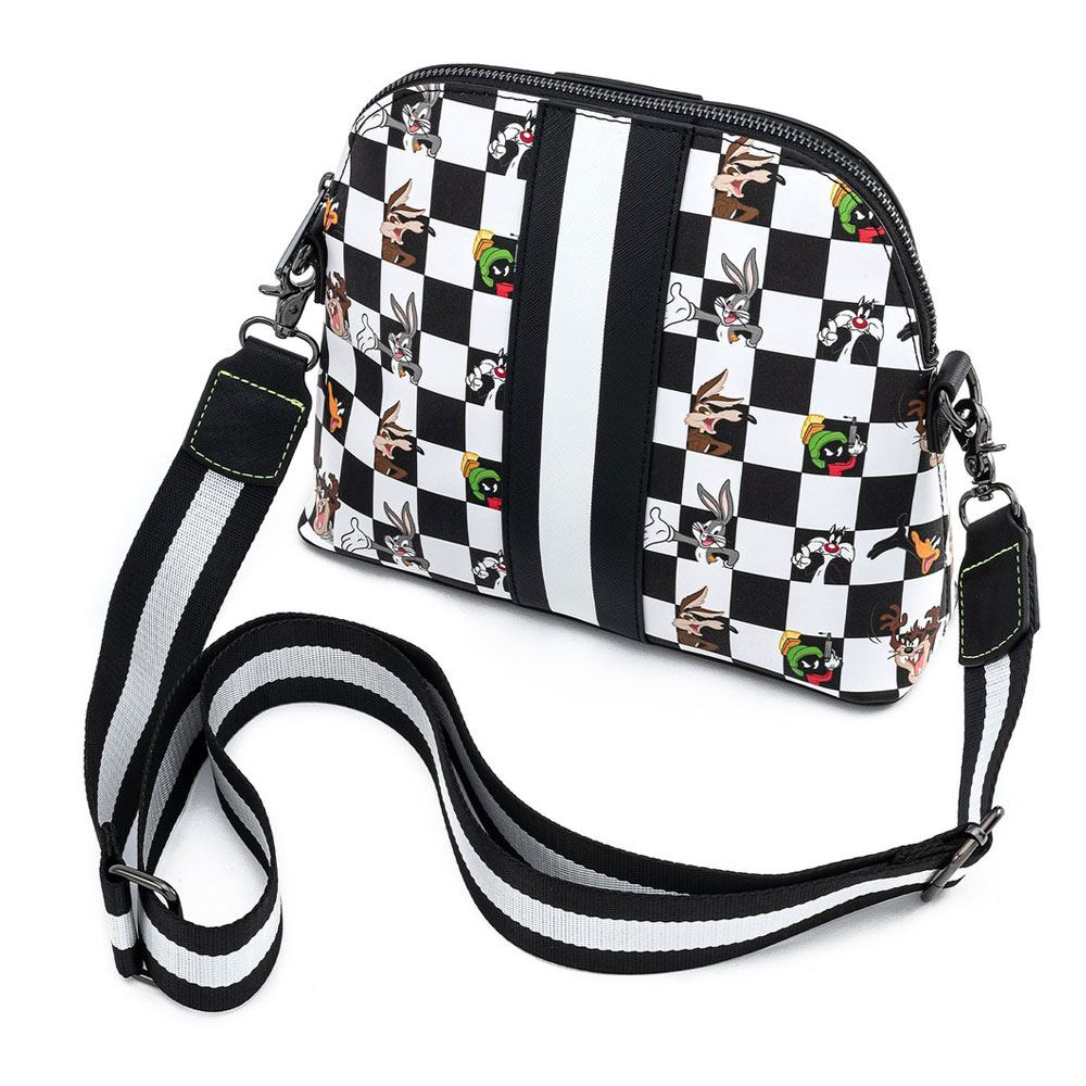 Looney Tunes by Loungefly Crossbody B&W Check Character