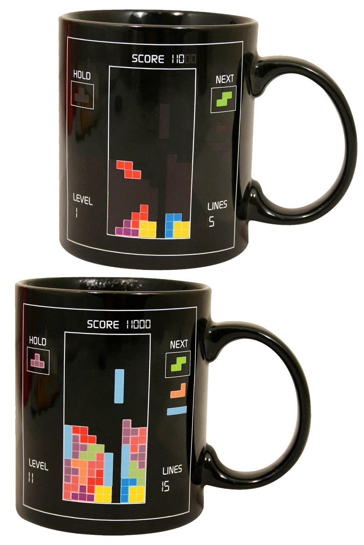 Tetris Color-Changing Mug