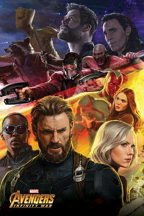 Avengers Infinity War Poster Pack Captain America 61 x 91 cm (5)