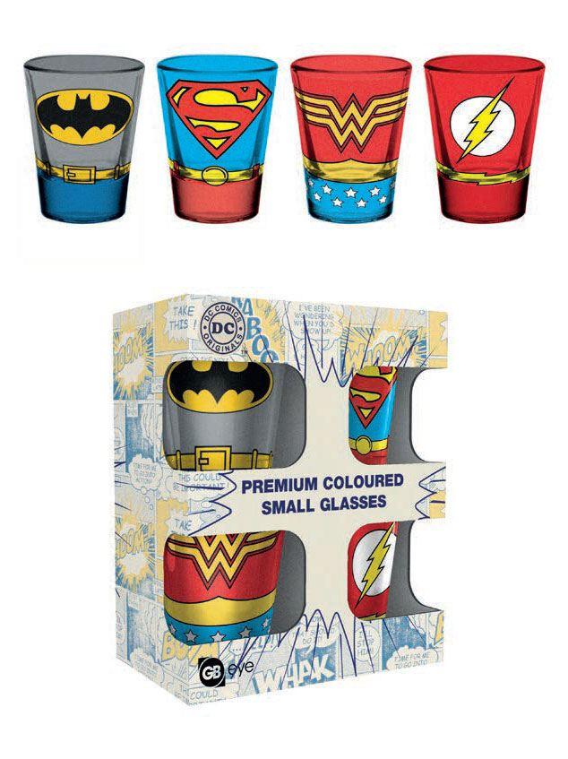 DC Comics Premium Shotglass 4-Pack Costumes