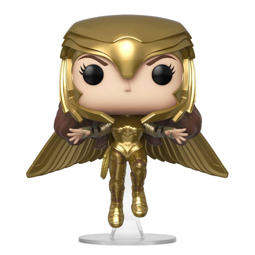 Wonder Woman 1984 POP! Movies Vinyl Figure Wonder Woman Gold Armour Flying Pose 9 cm