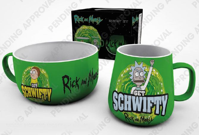 Rick and Morty Breakfast Set Get Schwifty --- DAMAGED PACKAGING