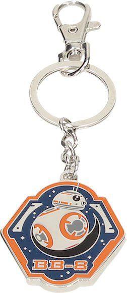 Star Wars Episode VII Metal Key Ring BB-8 Orange Edge
