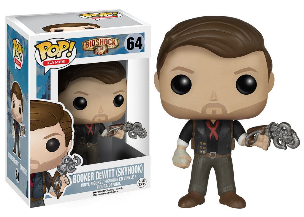 BioShock POP! Games Vinyl Figure Booker DeWitt & Skyhook 9 cm