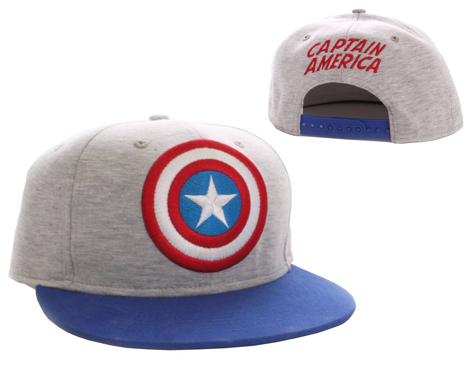 Captain America Adjustable Cap Vintage Logo grey