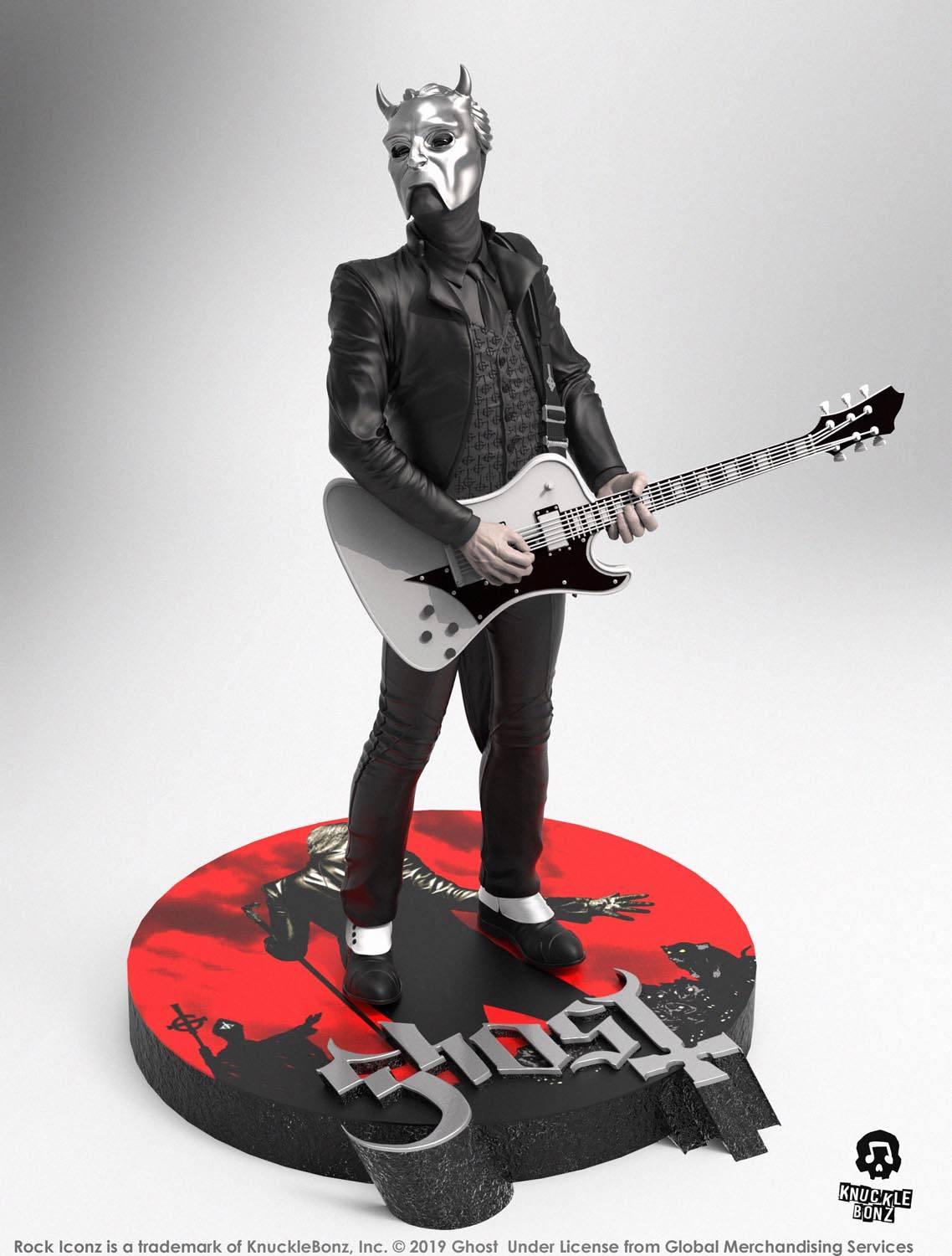 Ghost Rock Iconz Statue Nameless Ghoul (White Guitar) Limited Edition 22 cm