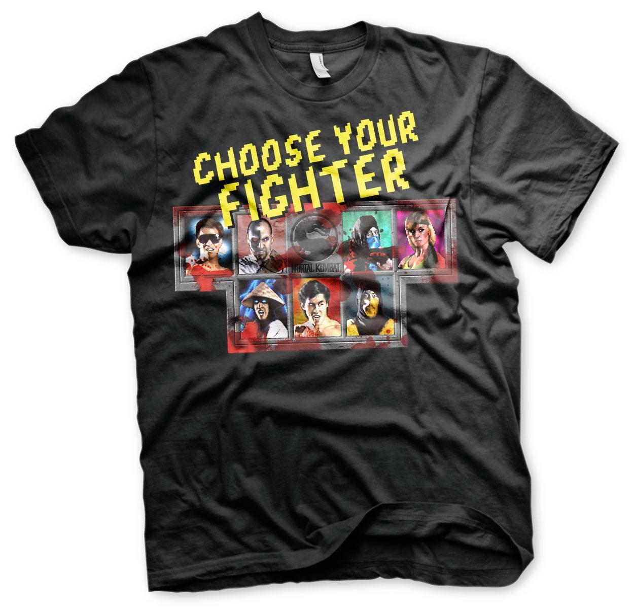 Mortal Kombat T-Shirt Choose Your Fighter Size S
