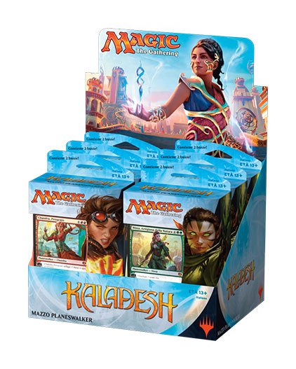 Magic the Gathering Kaladesh Planeswalker Decks Display (6) italian