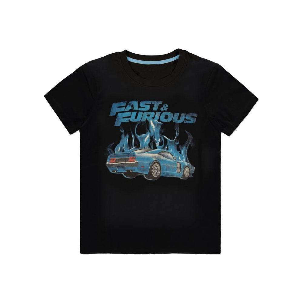 Fast & Furious T-Shirt Blue Flames Size XL