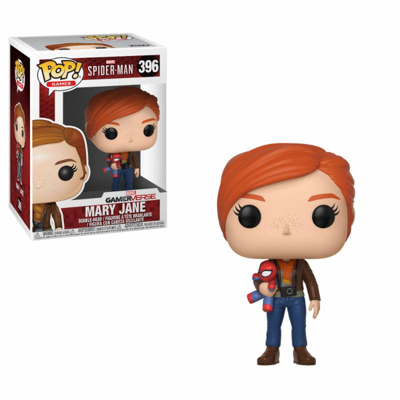 Spider-Man POP! Games Vinyl Figure Mary Jane with Plush 9 cm