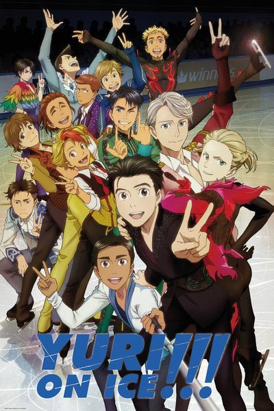 Yuri!!! on Ice Poster Pack Characters 61 x 91 cm (5)