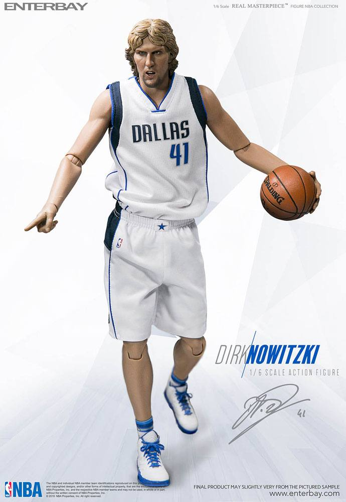 NBA Collection Real Masterpiece Actionfigur 1/6 Dirk Nowitzki 30 cm