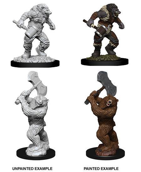 D&D Nolzur's Marvelous Miniatures Unpainted Miniatures Wereboar & Werebear Case (6)