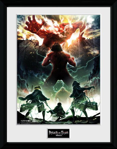 Attack on Titan Season 2 Framed Poster Key Art 45 x 34 cm