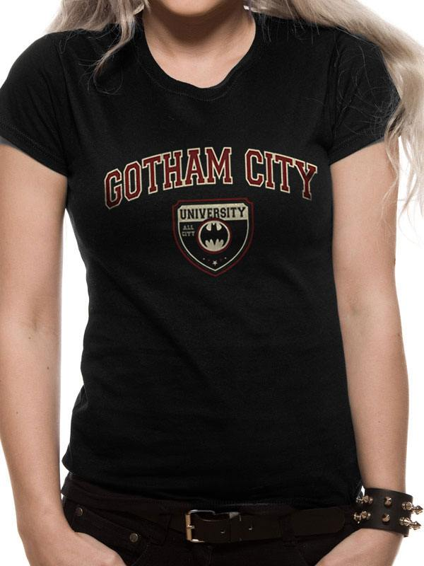 Batman Ladies T-Shirt Gotham City University Size L