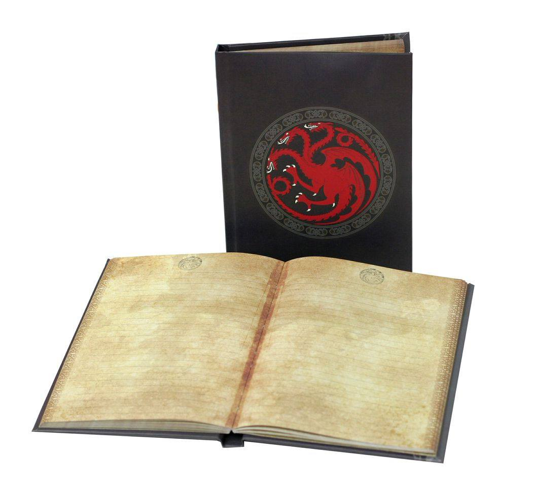 Game of Thrones Notebook with Light Targaryen