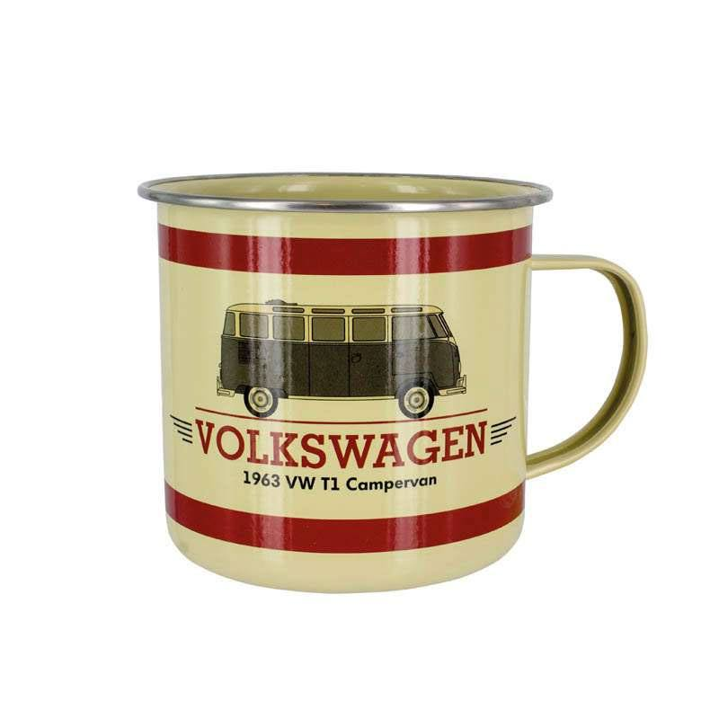 Volkswagen Enamel Mug Campervan Time to Volkswagen Get Out