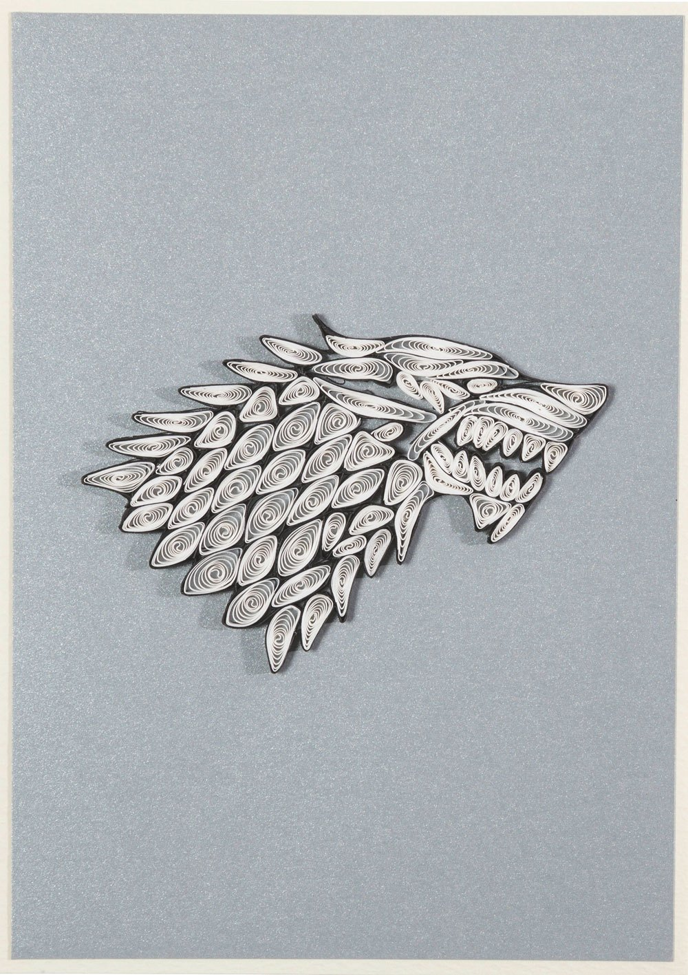 Game of Thrones Quilled Greeting Card House Stark