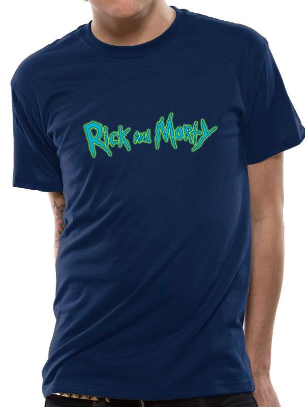 Rick & Morty T-Shirt Logo Size L