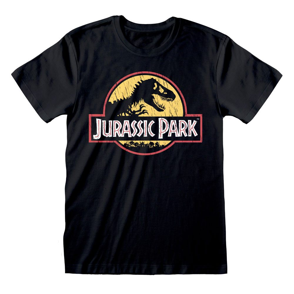 Jurassic Park T-Shirt Original Logo Distressed Size M