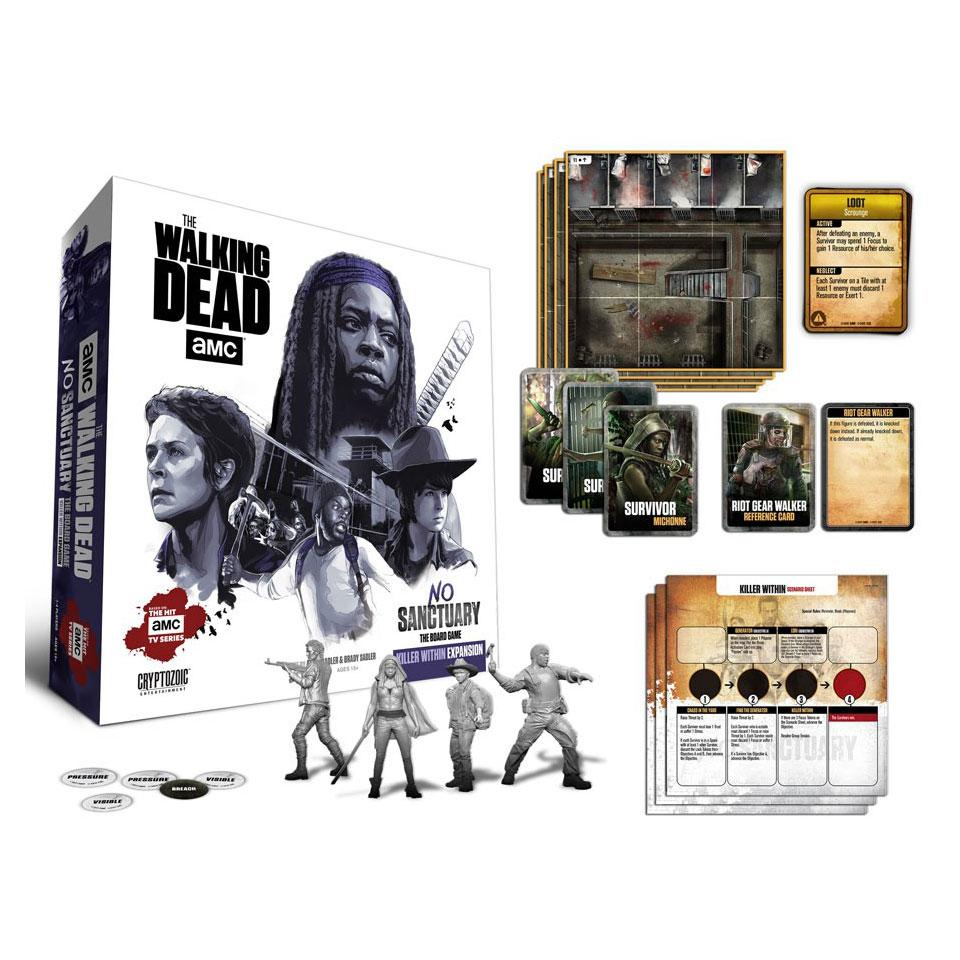 Walking Dead Board Game Expansion No Sanctuary: Killer Within *English Version*