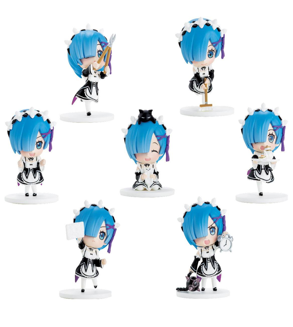 Re:ZERO -Starting Life in Another World- REM Help Series Trading Figure 7 cm Assortment (8)