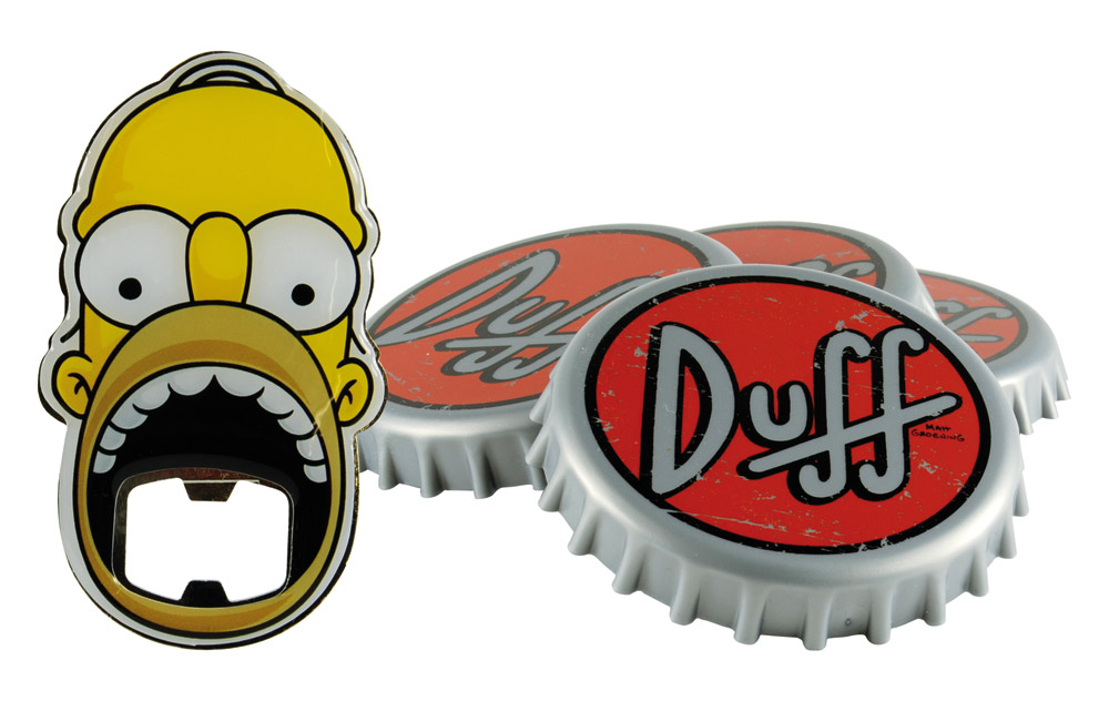 Simpsons Coaster Set with Bottle Opener