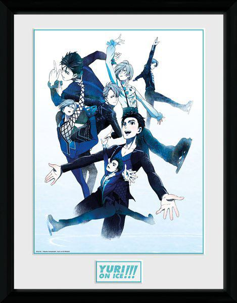 Yuri!!! on Ice Framed Poster Characters Skate 45 x 34 cm