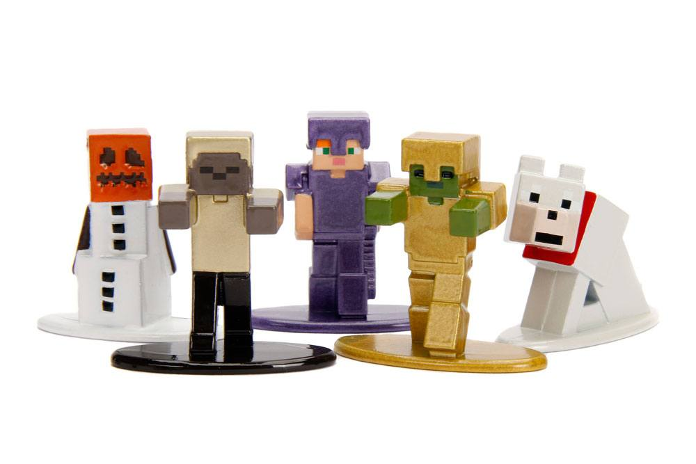 Minecraft Nano Metalfigs Diecast Mini Figures 5-Pack Wave 1 4 cm