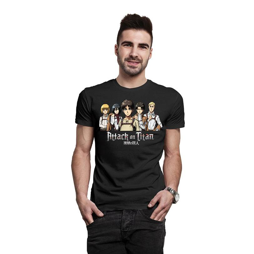 Attack on Titan T-Shirt Group Shot Size M