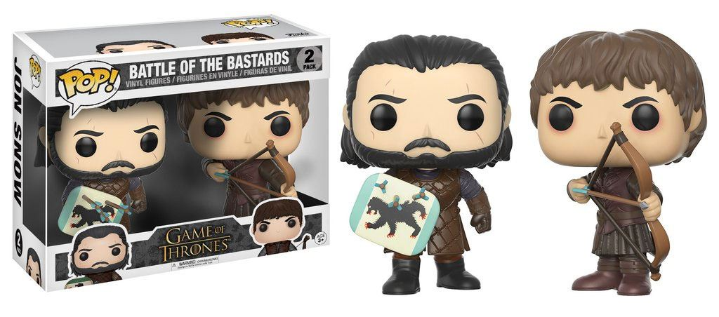Game of Thrones POP! Vinyl Figures 2-Pack Battle of the Bastards 9 cm