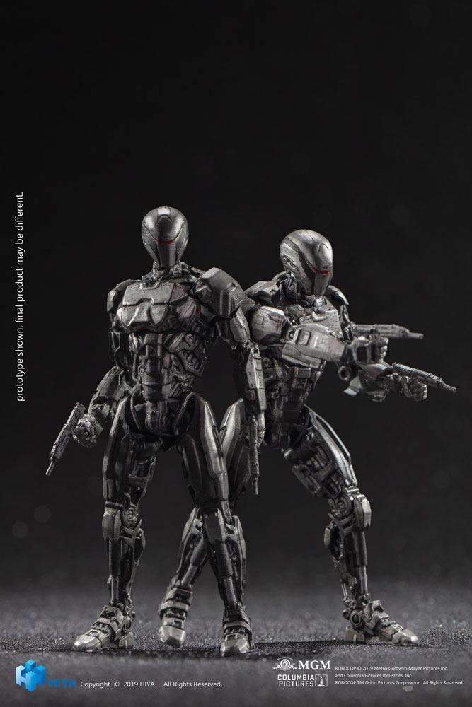 Robocop 2014 Action Figures 1/18 OmniCorp EM-208 Enforcement Droids 10 cm