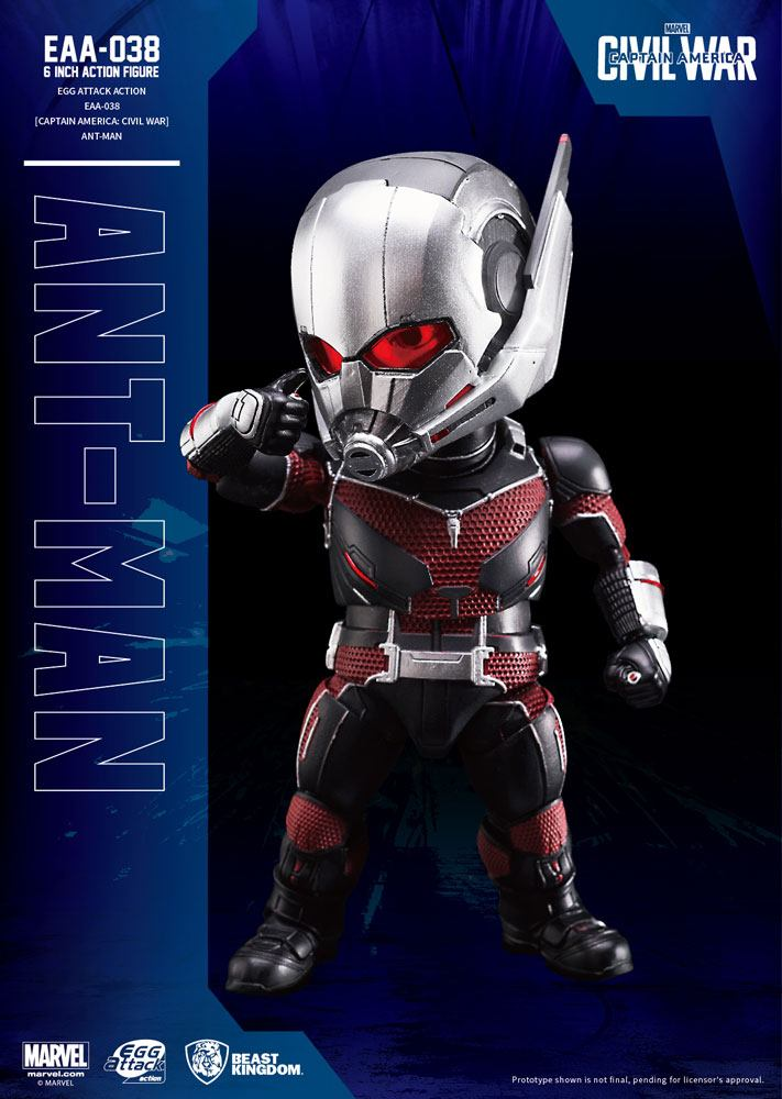 Captain America Civil War Egg Attack Action Figure Ant-Man 16 cm