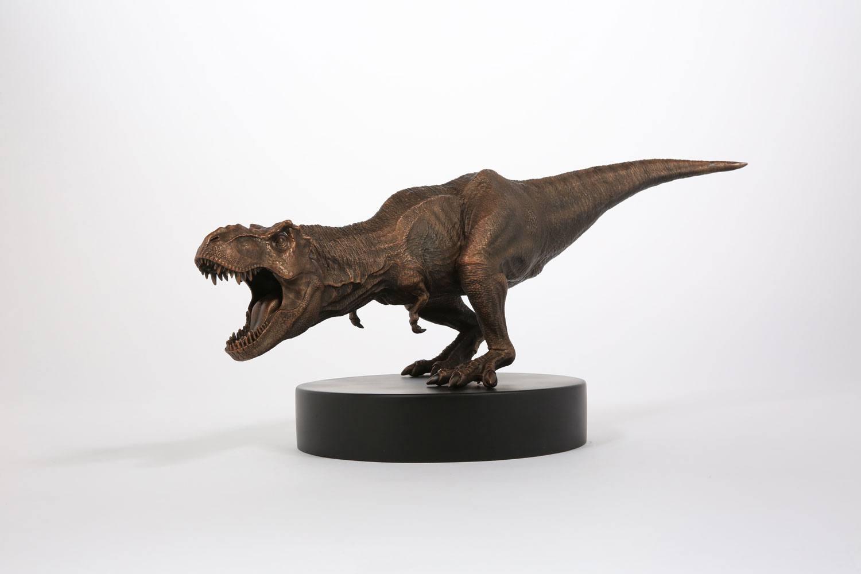 Jurassic Park Statue Bronze T-Rex 25 cm