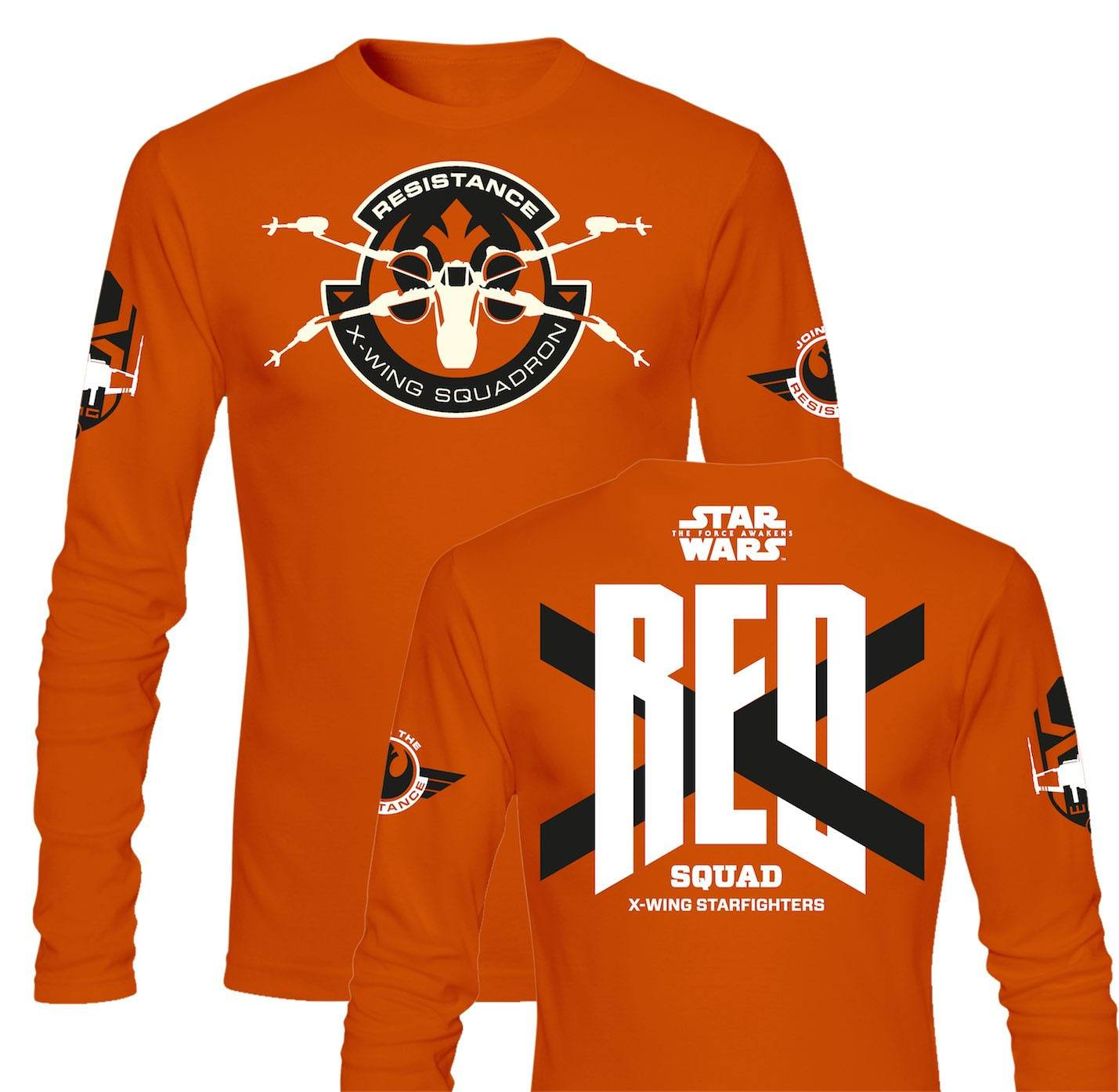 Star Wars Episode VII Long Sleeve RED Squad Size XL