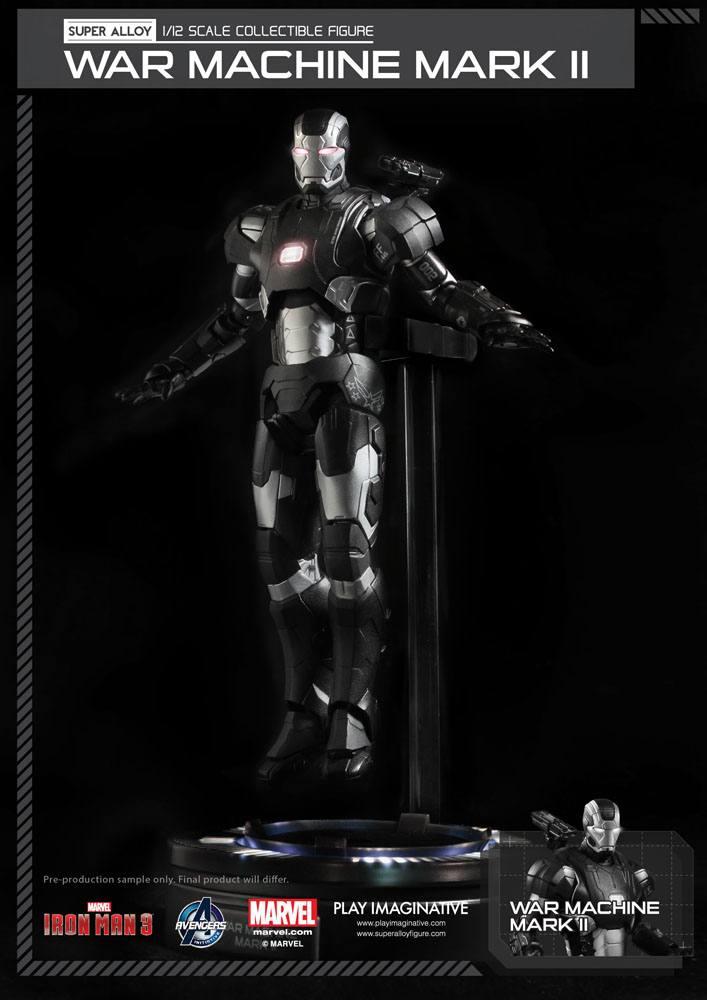 Iron Man 3 Super Alloy Action Figure 1/12 War Machine Mark II Ver. 2 15 cm