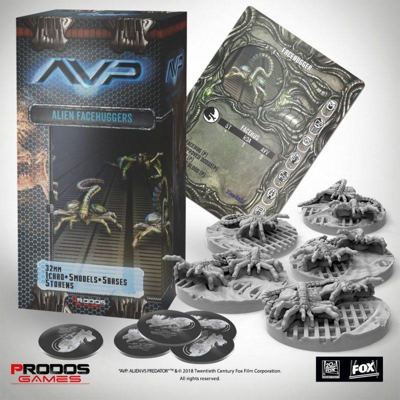 AvP Tabletop Game The Hunt Begins Expansion Pack Facehuggers