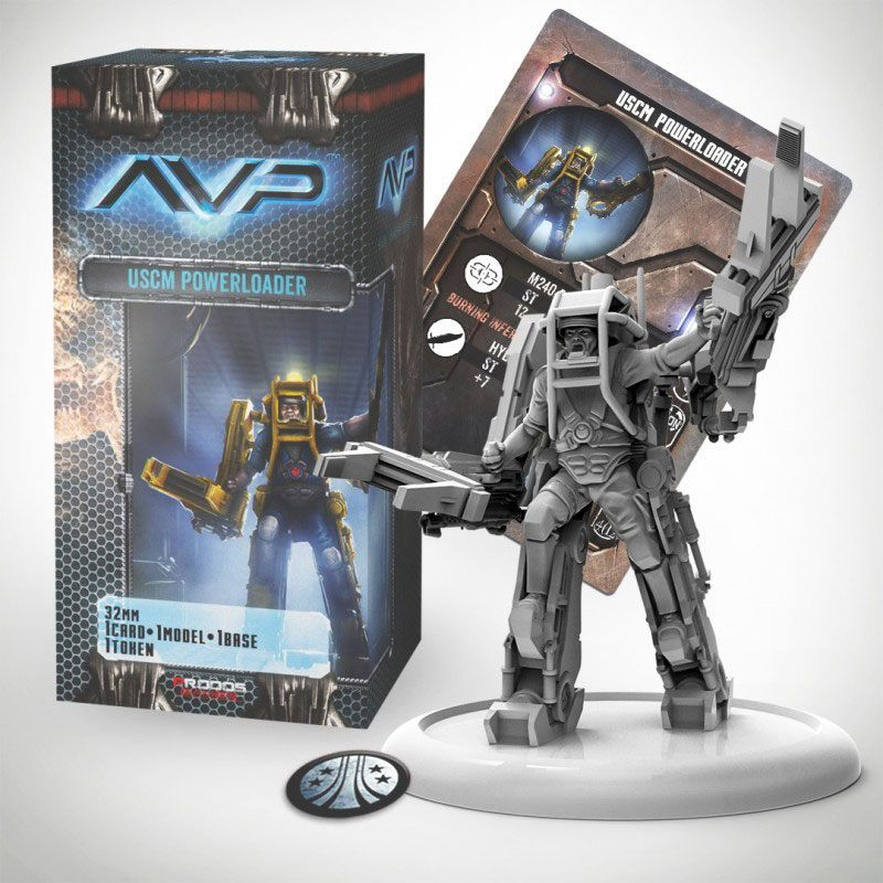 AvP Tabletop Game The Hunt Begins Expansion Pack Marine Powerloader *German Version*