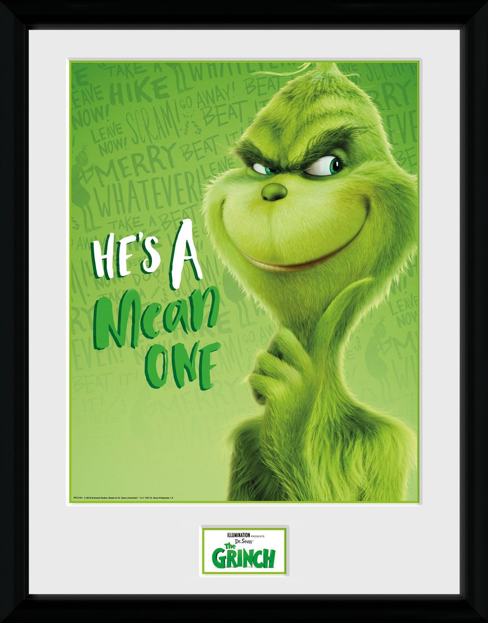 The Grinch (2018) Framed Poster Solo 45 x 34 cm