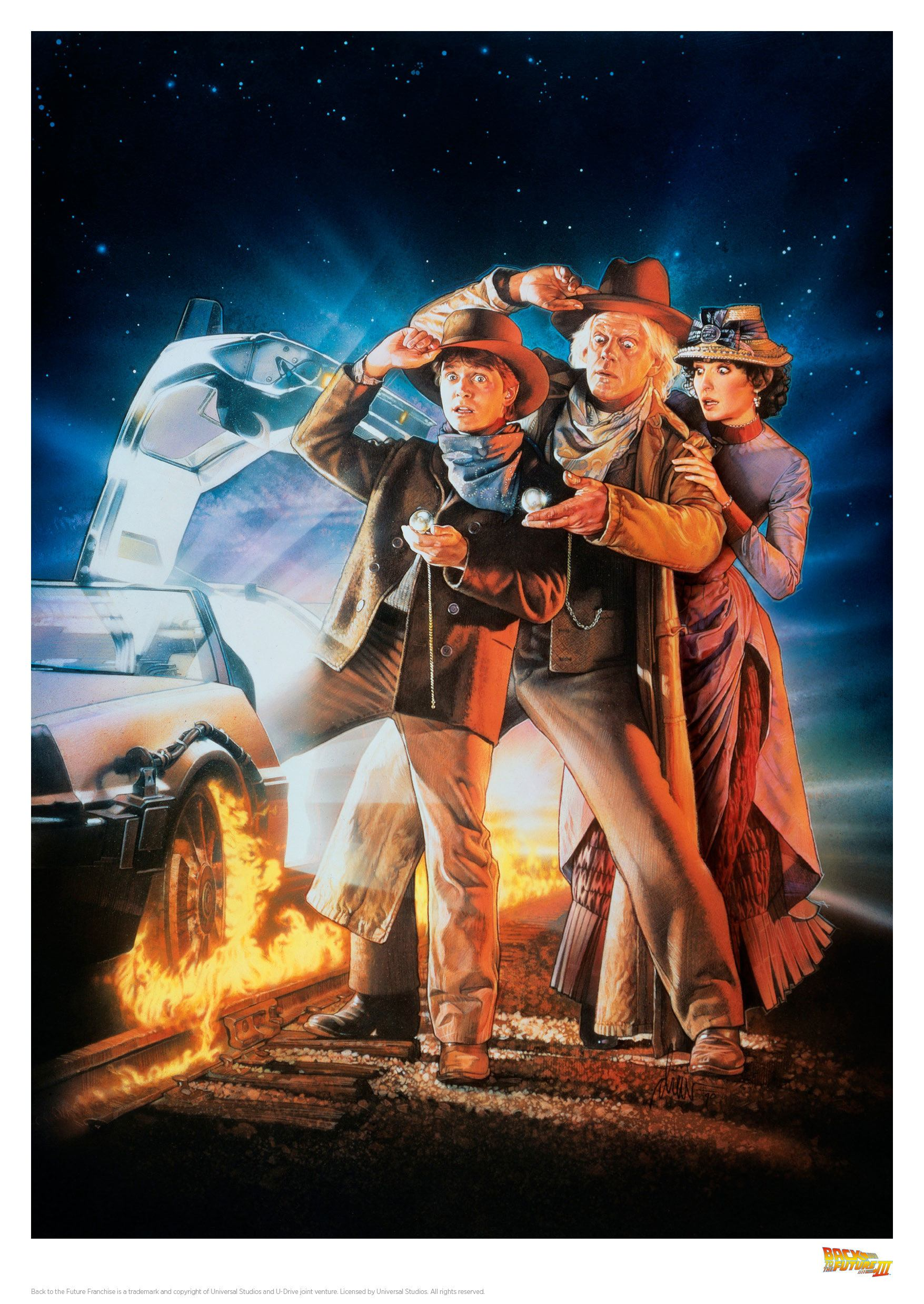Back to the Future III Art Print Cover 42 x 30 cm