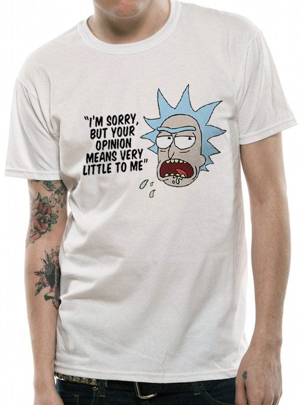 Rick & Morty T-Shirt Opinion Size L