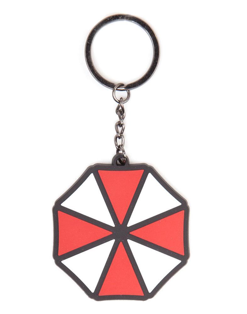 Resident Evil Rubber Keychain Umbrella Logo 7 cm
